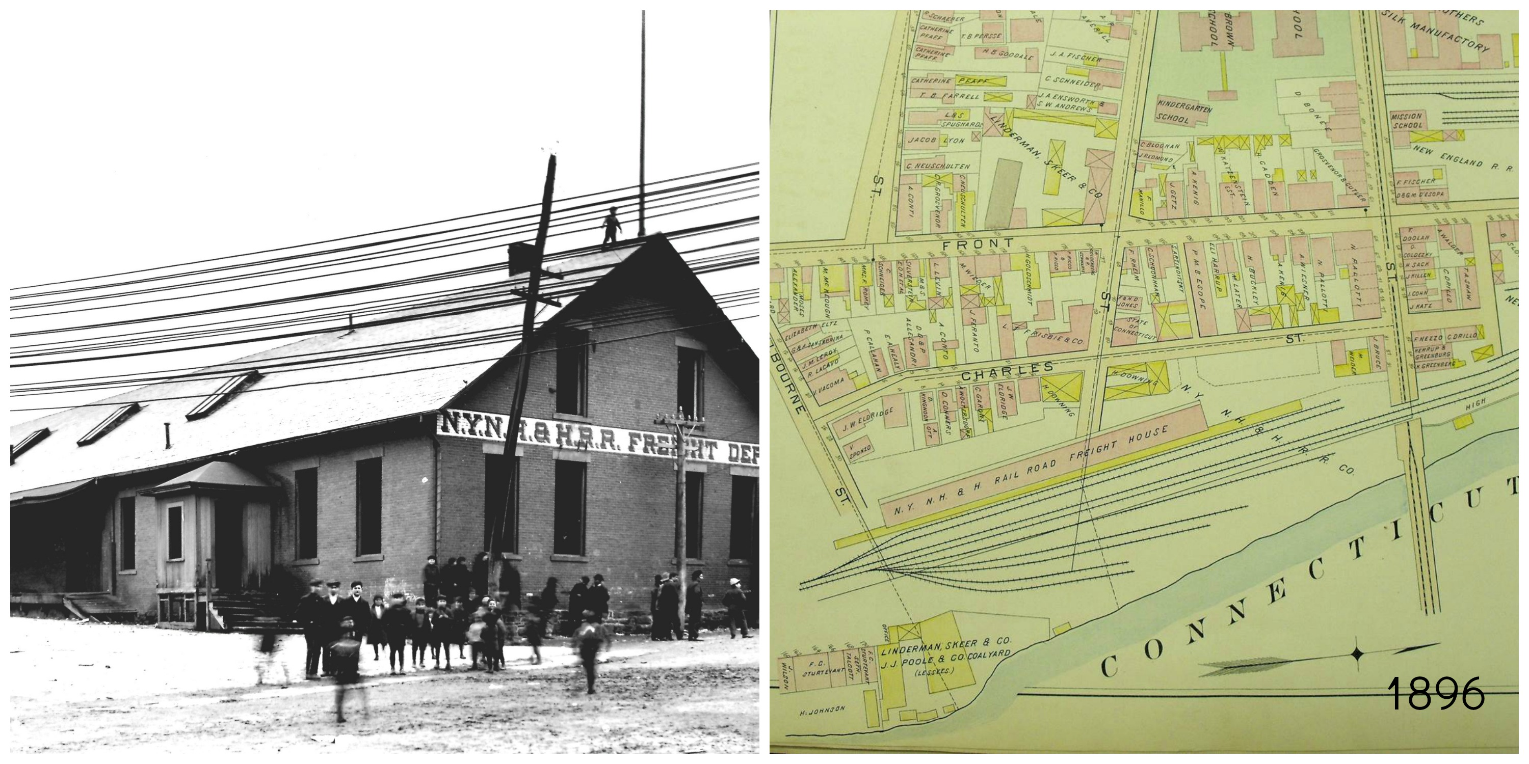 Freight Depot with atlas collage