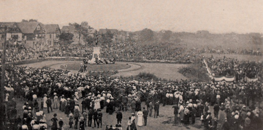 Camp Field Park Dedication October 4, 1900 (photo: Souvenir of the Hartford Parks 1895-1900)